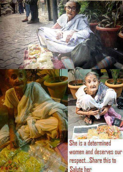 SHE is 83-YEAR-OLD REFUSES TO BEG, FIGHTS FOR DIGNITY!