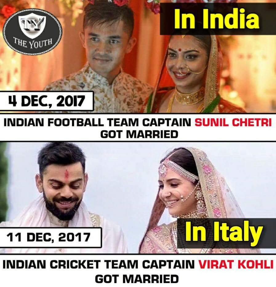 Why media did not Highlight when a football player got married.