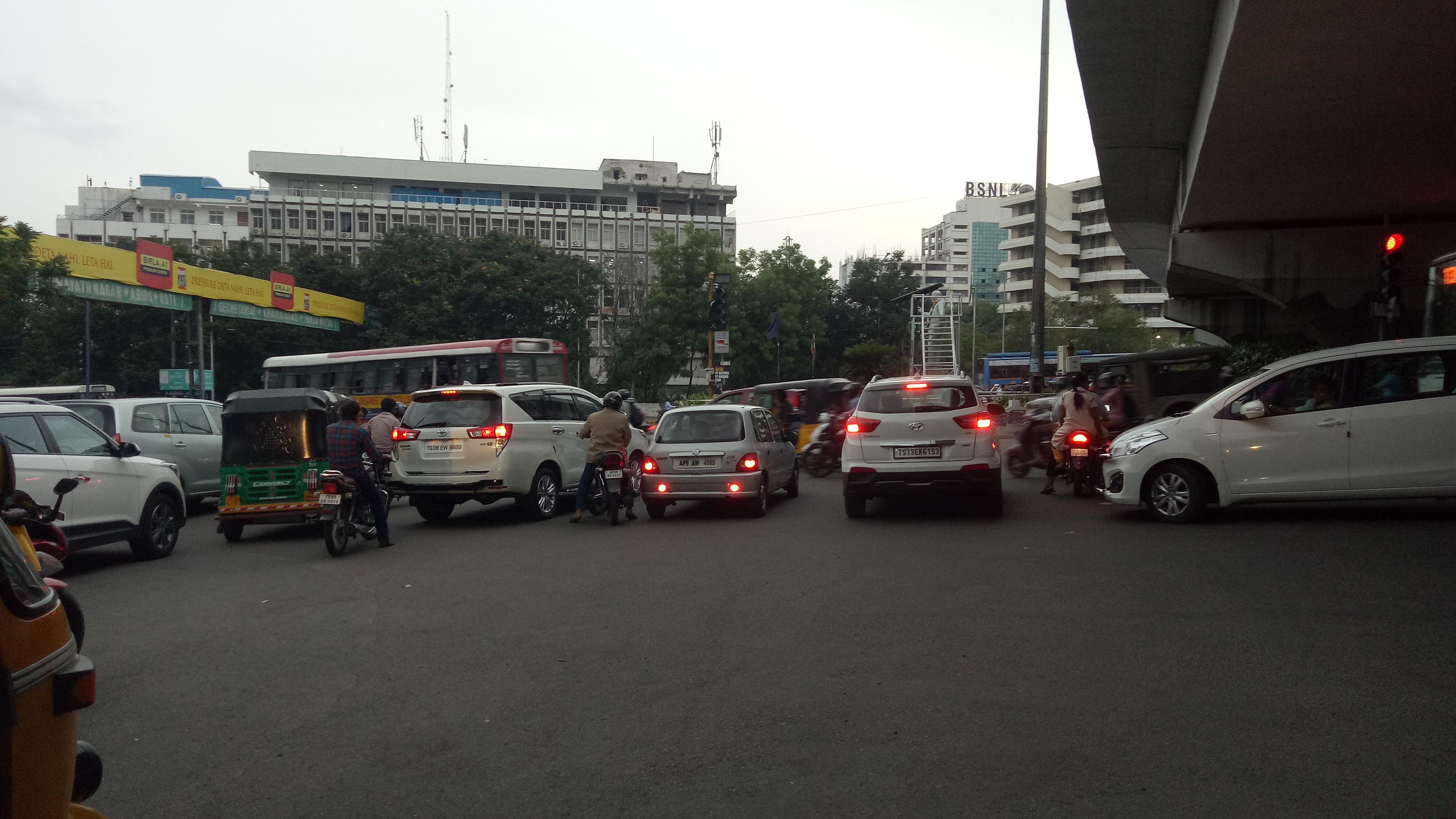 Breack the trafic ruls