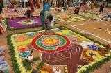 Rangoli contest for women at Ameenpur Lake