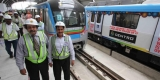HMR MD inspects Kukatpally Metro Rly Station works