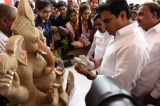 Hyderabad should set example in use of clay Ganesha idols: KTR