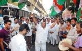 Congress leaders burst crackers at Gandhi Bhavan as Rahul elected party president